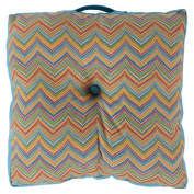 Surya 60cm x 60cm . Decorative Button Tufted Polyester Floor Cushion Pillow