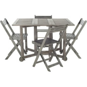 Safavieh Arvin Outdoor Table with 4 Chairs, Grey Wash