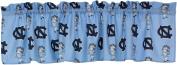 North Carolina Tar Heels 100% Cotton, 210cm x 38cm Curtain Valance, 1 Panel