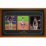 MLB 15x35 Triple Autographed Frame, Madison Bumgarner San Francisco Giants