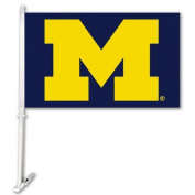 BSI Products NCAA Michigan Wolverines Car Flag with Wall Bracket