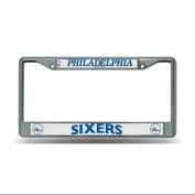 Philadelphia 76ers NBA Chrome Metal (2) Licence Plate Frame Set