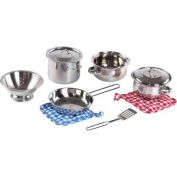 Step2 Cooking Essentials 10-Piece Set, Stainless Steel