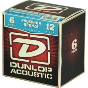 Dunlop Phosphor Bronze Acoustic Guitar Strings Light 6-Pack