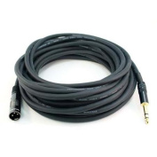 11m Premier Series XLR Male to 0.6cm TRS Male 16AWG Cable