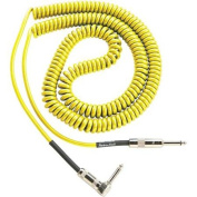 Lava Retro Coil 6.1m Instrument Cable Straight-Right Angle Assorted Colours Yellow