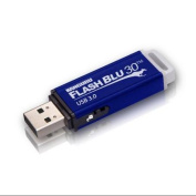 Kanguru Flashblu30 With Physical Write Protect Switch Superspeed Usb3.0 Flash Drive - 32 Gb - Blue - Write Protection Switch, Readyboost, Shock Resistant, Swivel