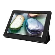 Black Tri-Fold Folio Case for Lenovo IdeaTab S6000