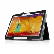 Black Double-Fold Folio Case for Samsung Galaxy Note 2014 26cm Tablet