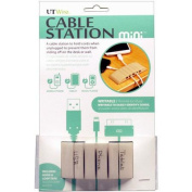 UT Wire Cable Station Mini Mountable Cord Organiser Holder, Beige