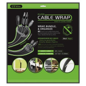 UT Wire 2.4m Expandable Flexi Cable Wrap for Bundling, Black