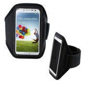 Black Sport Arm band Gym Band Case Pouch for for for for for for for for for for for Samsung Galaxy S4 i9500
