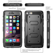 i-Blason-Armorbox iphone 6 4.7 , Series Dual Layer Full Body Protection Case with Screen Protector-Black
