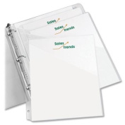 Avery Durable 3-ring Poly Binder Pocket - Letter - 22cm X 28cm - 20 Sheet Capacity - 3 X Ring Fastener - Polypropylene - Clear - 5 / Pack
