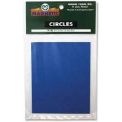 Magnetic Round Indicators, Blue ,Magna Visual, FI-125
