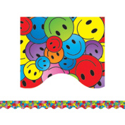 TCR4125 - Happy Faces Scalloped Border Trim by Teacher Created Resources