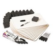 Charles Leonard Dry Erase Lapboard Class Pack, 23cm x 30cm , White, 12/Kt
