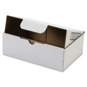 200lb Corrugated Self-Locking Mailing Box, 8-3/4w x 11-1/2l x 2-1/8h, White