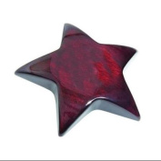 Wood Star Paperweight in Mahogany Finish Wood