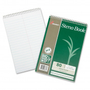 Skilcraft Steno Notebook, Greg Ruled, 15cm x 23cm , 80Shts, 6/PK, WE 6002030
