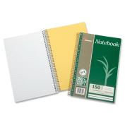Skilcraft 3-Subject Notebook, Coll Rld, 23cm - 1.3cm x 15cm , 150Shts, 3/PK, WE 6002023