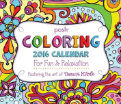 Posh Coloring Day-To-Day Calendar