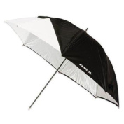 Westcott 2011 110cm Optical White Satin Collapsible with Removable Black Cover Umbrella