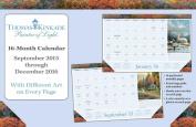 Thomas Kinkade Painter of Light 2015-2016 Desk Pad Calendar
