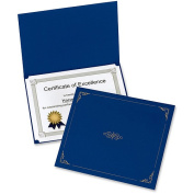 Oxford Linen-finish Certificate Holders, 8 x 11, Blue, 5 pack