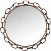 Safavieh Atlantis Chain Link Mirror, Antique Gold