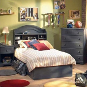 South Shore Summer Breeze Mates Twin Blueberry Bookcase Bed Collection
