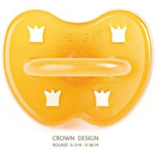 Hevea 144201 - Crown Natural Rubber Round Pacifier - 0-3 Months