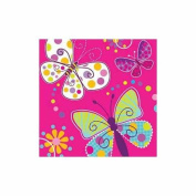 Party Creations Butterfly Sparkle Lunch Napkins, 16 Ct
