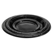 Genpak Black Dinnerware Silhouette Plate
