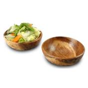 Casual Dining Acacia Wood Side Salad Bowl - Set of 2