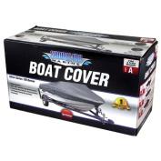 Shoreline Marine Deluxe Boat Cover, Grey