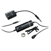 Audio-Technica ATR3350iS Microphone - 15 Hz to 18 kHz - Wired - 6m - Condenser, Omni-directional - Lapel - Mini-ph