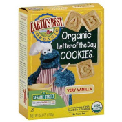 Earth's Best Organic Sesame Street Letter Of The Day Very Vanilla Cookies, 160ml