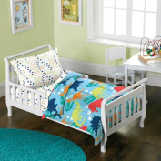 Dream Factory Dinosaur 4-Piece Toddler Mini Bed in a Bag Bedding Set
