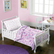 Dream Factory Stars & Crowns 4-Piece Toddler Mini Bed in a Bag Bedding Set