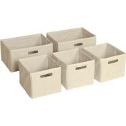 Tan Storage Bins, Set of 5