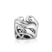 925 Sterling Silver Celtic Mom and Child Love Family Bead Charm Fits Pandora Bracelet