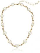"""Signature 4900cm Pearl Essentials"""" Gold-Tone Strand Necklace, 41cm"""
