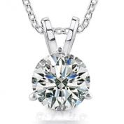 0.44 Ct Ladies Round Cut Diamond Soitaire Pendant / Necklace