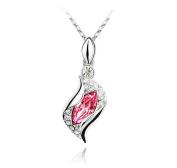 KATGI Fashion Angel Eye Teardrop Pendants Crystal Necklace