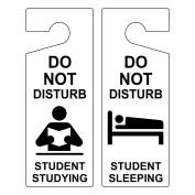 ComplianceSigns Plastic Do Not Disturb Door Hanger, 8x3 with English, White