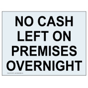 ComplianceSigns Clear Vinyl Security Notice Label, 13cm x 8.9cm . with English, 4-Pack