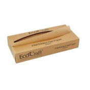 Bagcraft Papercon 016012 EcoCraft Interfolded Dry Wax Deli Paper, 25cm - 1.9cm Length x 30cm Width, NK12 Natural