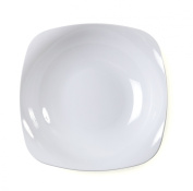 Fineline Settings 10-Piece Renaissance Rounded Square China-Like Bowl, 350ml, White