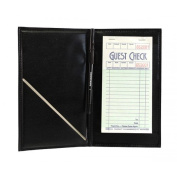 Black Vinyl Guest Cheque Order Holder with Pen Loop
